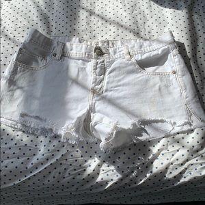 White free people shorts